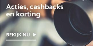 Cashback op camera's en toebehoren bij Cameranu.nl