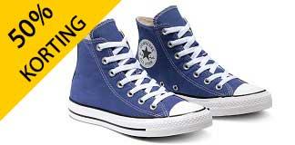 Tot wel 50% korting op Converse schoenen en kleding
