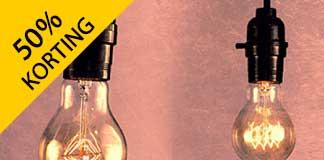 Tot wel 50% korting op lampen via Gloeilampgoedkoop