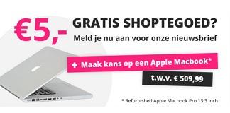 Krijg €5 shoptegoed voor Groupdeal + kans op Apple Macbook