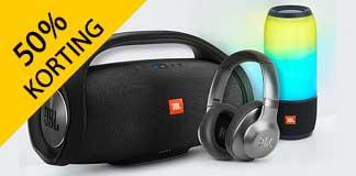 Korting op JBL oordopjes, koptelefoons en speakers