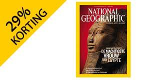 1 jaar National Geographic met 29% korting