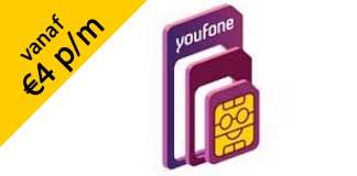 Youfone sim only vanaf €4 per maand