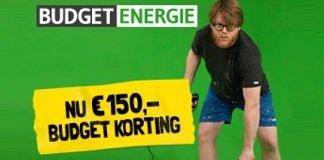 Krijg €150 Budget korting bij Budget Energie