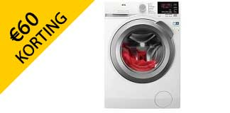 Krijg €60 korting op AEG wasmachine