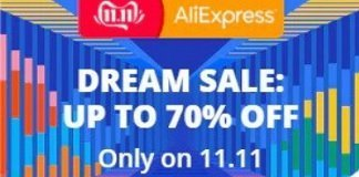 Dream Sale bij AliExpress tot 70% korting