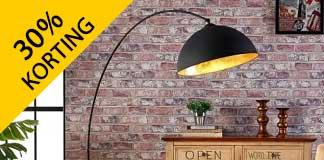 30% korting op vloerlampen van Lampen24