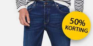 50% korting op WE fashion jeans