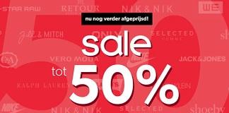 Grote sale bij Wehkamp, tot 50% korting