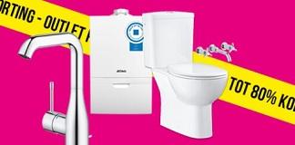 Tot 80% korting op badkamerartikelen in de outlet