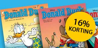 16% korting op Donald Duck abonnement