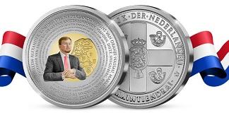 50% korting op unieke herdenkgsmunt Koning Willem-Alexander met baard