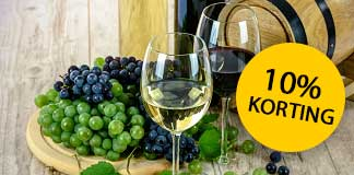 10% korting op alle wijnen en sterke drank van Mijnslijter