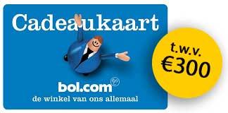 Gratis Bol.com cadeaukaart t.w.v. €300 bij 1 jaar Vattenfall