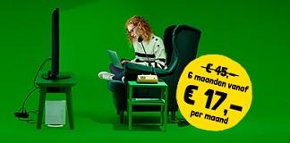 Internetten en tv kijken voor slechts €17!