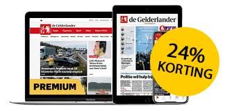 24% korting op De Gelderlander Digitaal 1 jaar