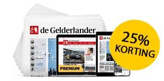 25% korting op De Gelderlander Weekend 1 jaar