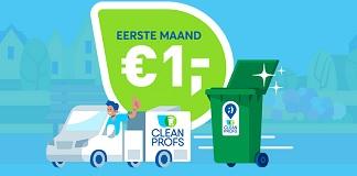 CleanProfs container reiniging voor 1 euro