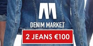 2 jeans voor €100 tijdens Denim Market