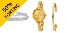 Tot 50% korting op sieraden en horloges