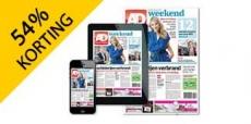 54% korting op het Algemeen Dagblad 1 jaar
