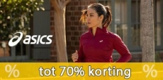 Tot 70% korting op Asics sportkleding en schoenen