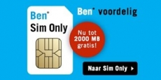 BEN sim only met 2 GB gratis data!