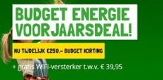 €250 korting + wifi-versterker bij Budget Energie