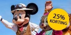 25% korting bij Disneyland Parijs + €200 zakgeld!