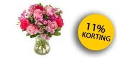 11% korting op bloemen bij Euroflorist