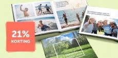21% korting op fotoboeken van Fotofabriek