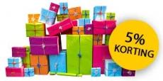5% korting op je cadeau bij Grote Kadoshop