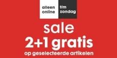 HEMA sale 2+1 gratis!