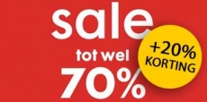 70% + 20% EXTRA korting bij HEMA