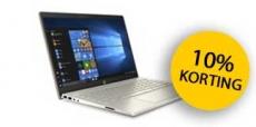 10% korting op HP laptop in februari