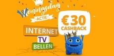 6x €15 korting + €30 cashback bij ONLINE