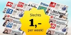 4 weken de krant voor €4 – Stopt automatisch!