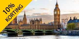 10% korting op accommodaties in Londen