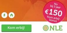 Krijg €150 cashback bij 3 jaar energie van NLE