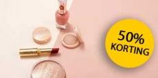 50% korting op oog make-up bij Wehkamp