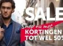 Sale bij Overhemden Online met 50% korting