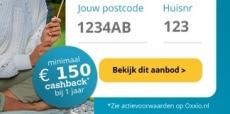 Minimaal €150 cashback bij 1 jaar Oxxio