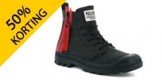 50% korting op Palladium boots