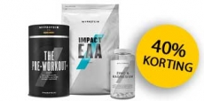 40% korting op pre, instra en post workout