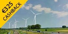 Krijg tot wel €325 cashback bij Pure Energie