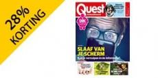 28% korting op 1 jaar Quest magazine