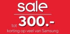 Tot €300 korting op Samsung producten bij Wehkamp