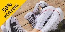 50% korting op schoenen van Sarenza