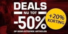 50% + 20% extra korting op de Snipes sale