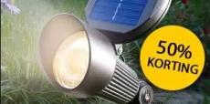 Tot 50% korting op solar buitenverlichting bij Lampen24